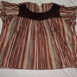 Multicolor pleated Blouse 1x like new